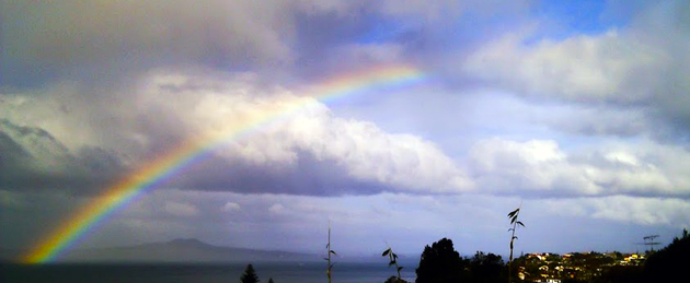 Rainbows: they're caused by refraction in water droplets, not by the promises of sky fairies