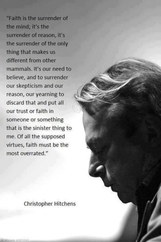 Christopher Hitchens on faith