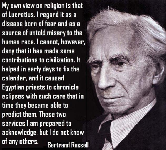 Bertrand Russell on religion