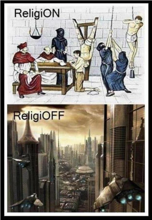 Religion: retarding development at every turn.