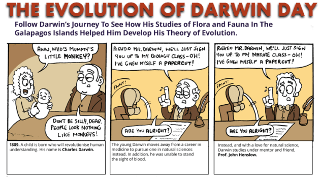 A comic about the life and legacy of Charles Darwin. Which you should read. Obviously.